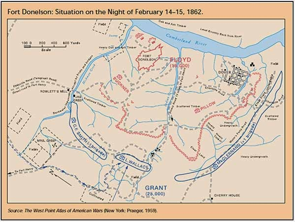 Fort Donelson - Ft donelson river on us map